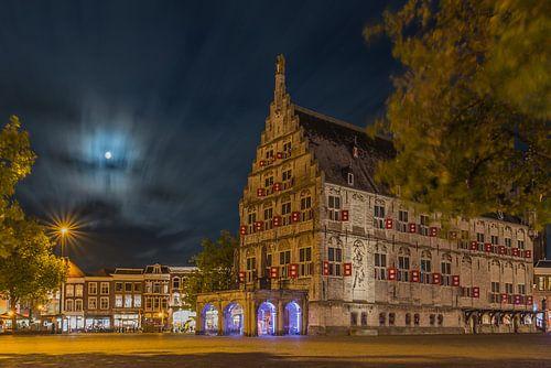 Nachtfotografie Stadhuis van gouda van