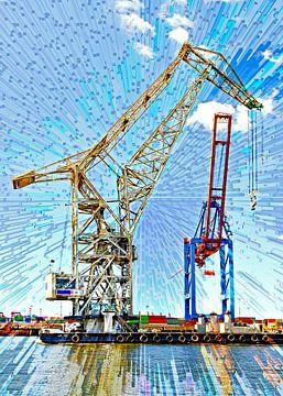 Hafenkräne von Leopold Brix