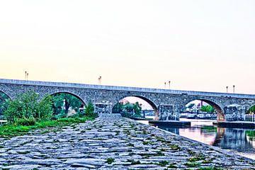 Stenen brug Regensburg van Roith Fotografie