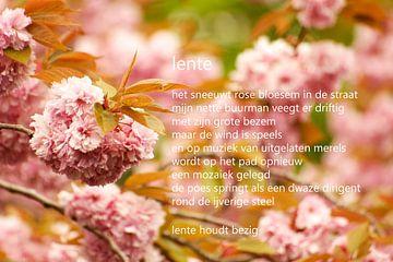 Prunus met gedicht van Bargo Kunst