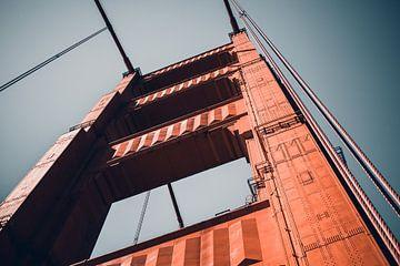 Nahaufnahme Golden Gate Bridge, San Francisco - U.S.A. von Dylan van den Heuvel