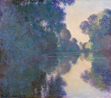 Matin sur la Seine près de Giverny, Claude Monet sur