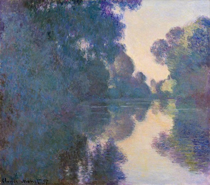 'S morgens op de Seine in de buurt van Giverny, Claude Monet van Meesterlijcke Meesters