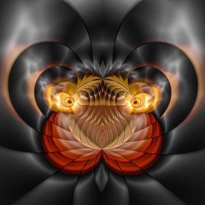Phantasievolle abstrakte Twirl-Illustration 109/32
