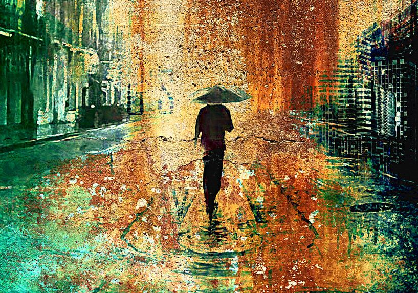 Walking in the rain sur PictureWork - Digital artist