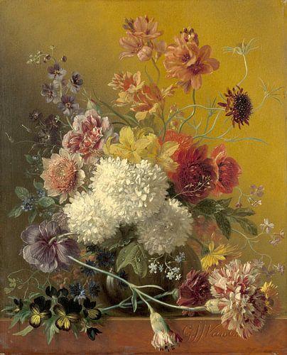 Stilleven met bloemen in een vaas van Hollandse Meesters