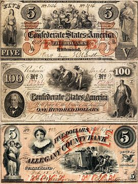 Vintage Amerikaanse dollar biljetten van Martin Bergsma