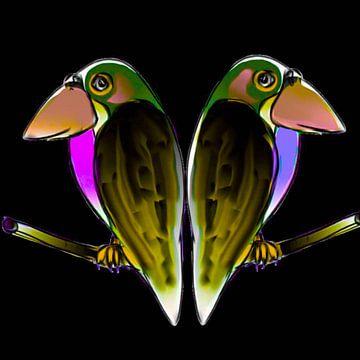 Vogels. Fantasie van Raina Versluis