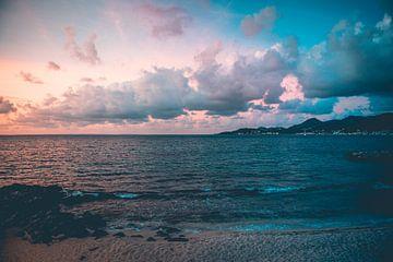 Caribische Zonsondergang van Leon Weggelaar