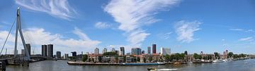 Skyline Rotterdam van Valerie de Bliek