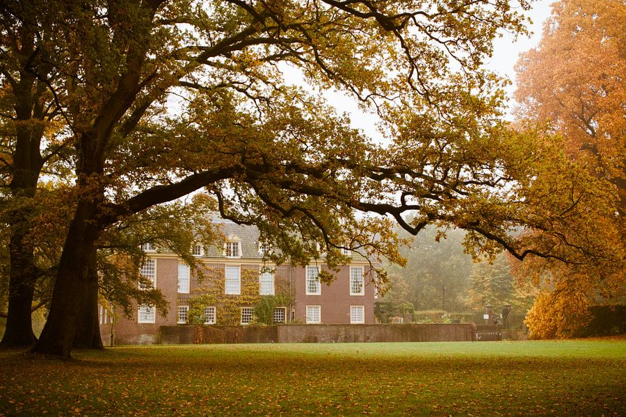 Kasteel de Wiersse in de herfst