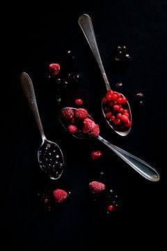 Rood fruit stilleven van Anne Van Opdorp