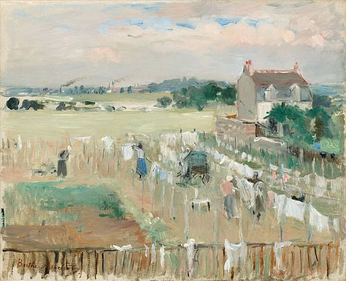 De Was buiten hangen om te drogen, Berthe Morisot