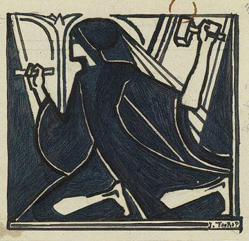 Knielende figuur met hamer en beitel, Jan Toorop