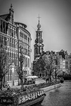 AMSTERDAM Mint Tower | monochrome sur Melanie Viola