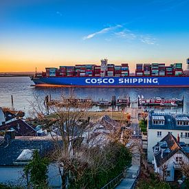 2018-02-23 Navire porte-conteneurs COSCO Aria sur Joachim Fischer