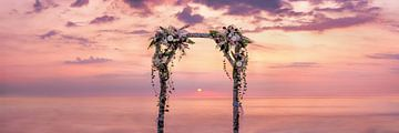 Arche de mariage sur la plage de la mer Baltique sur Voss Fine Art Fotografie