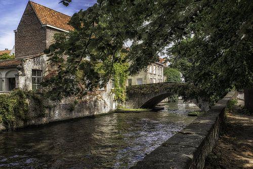 Stad Brugge Groenerei brug Peerdenstraat van