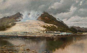 Charles Blomfield~Weiße Terrassen, Rotomahana