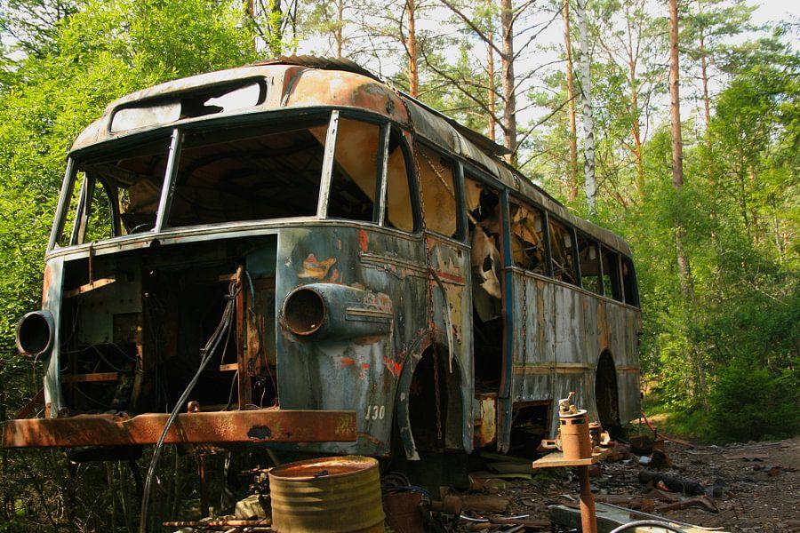 autobus op autokerkhof