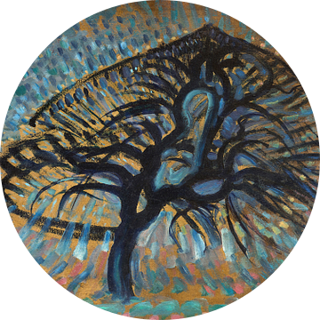 Appelboom, pointillistische versie, Piet Mondriaan