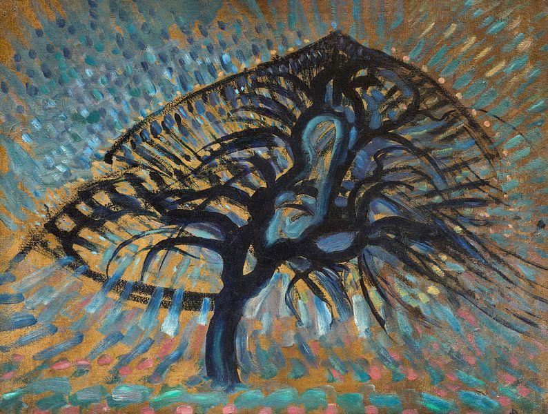 Apfelbaum, Pointillistische Version, Piet Mondrian von Meesterlijcke Meesters
