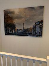Klantfoto: Uitzicht op de Bemuurde Weerd en de Domtoren in Utrecht. van De Utrechtse Internet Courant (DUIC), op canvas