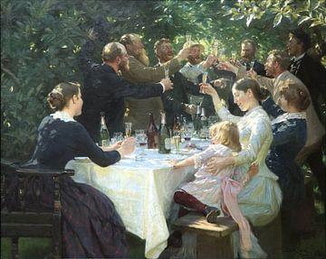 Hip hip hip hourrah ! Parti Artiste, Peder Severin Krøyer sur
