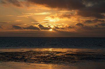 Golden sunset aan het wad van Dennis en Michelle