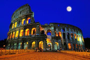 Kolosseum bei Mondlicht von Riekus Reinders