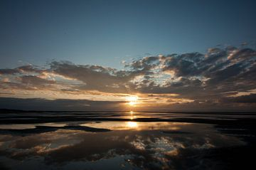 Sonnenuntergang auf Texel von Anita van Hengel