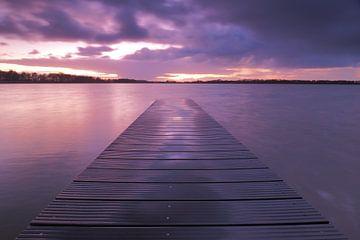 Sonnenuntergang an der Nannewiid von Wilco B