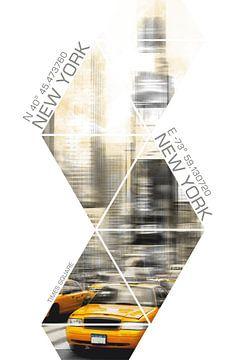 Coördinaten TIMES SQUARE Moderne Kunst van Melanie Viola
