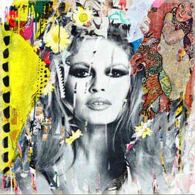 Motiv Brigitte Bardot - Plakative Collage - Dadaismus Nonsens von Felix von Altersheim