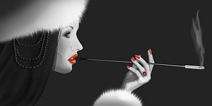 Lady Ninotchka 2 (version in zwart / wit met Colorkey)