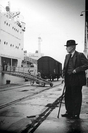 Man in de haven 60-er jaren van PIX URBAN PHOTOGRAPHY