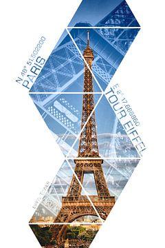 Koordinaten PARIS Eiffelturm von Melanie Viola