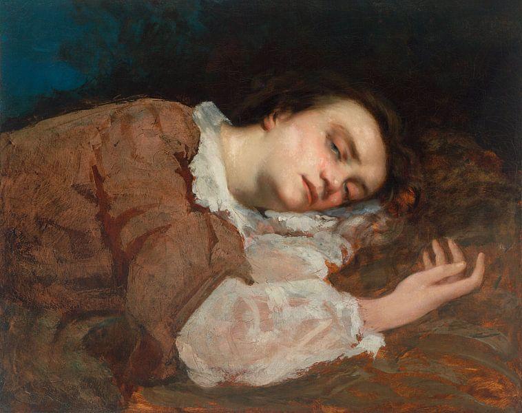 Study for Les Demoiselles des bords de la Seine, Gustave Courbet von Meesterlijcke Meesters