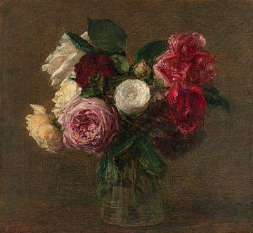 Rosen in einer Vase, Henri Fantin-Latour