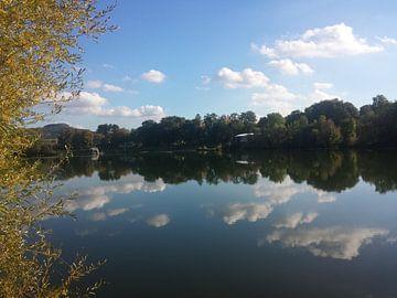 Reflectie op het meer van