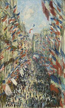 Die Rue Montorgueil in Paris. Feier des 30. Juni 1878, Claude Monet