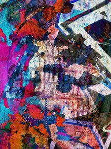 Modern, Abstract kunstwerk - Dreams Full Of Color Part 3
