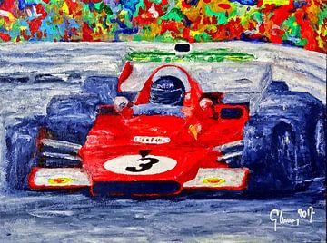Ferrari 312B3 driven by Jacky Ickx  van Jean-Louis Glineur alias DeVerviers