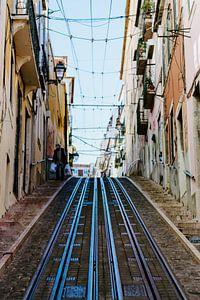 De steile heuvels van Lissabon van