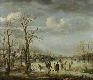 Riviergezicht bij winter