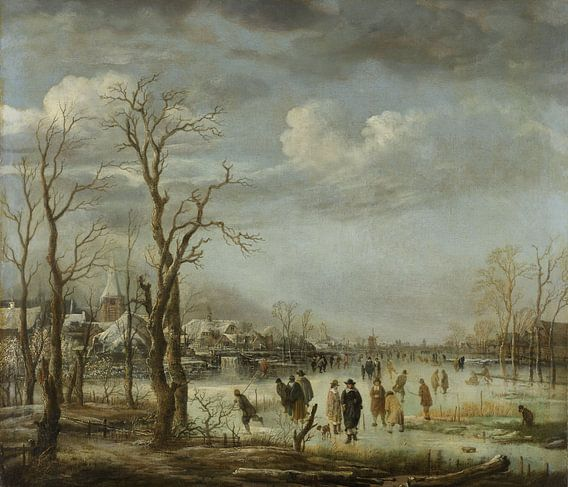 Riviergezicht bij winter van Rebel Ontwerp