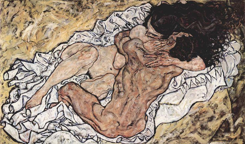 De omhelzing, Egon Schiele - 1917 von Het Archief