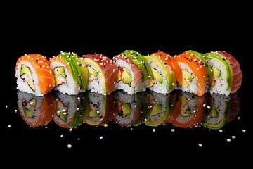 Kleurrijke Sushi van verschillende smaken van Henny Brouwers