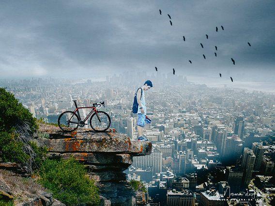 City View - Biker von Ellen Novara-da Lima
