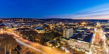 Stuttgart bij nacht van Werner Dieterich